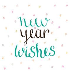 New year wishes - handwritten vector