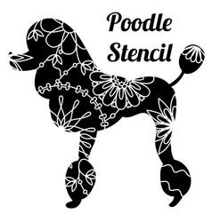 Poodle dog stencil vector