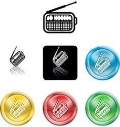 radio symbol vector image