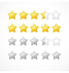 Rating stars isolated on white vector image