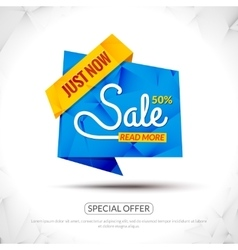 Sale tags graphic elements in paper origami style vector
