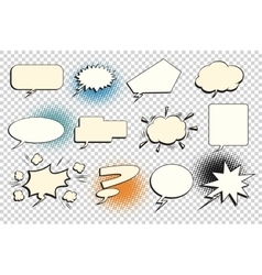 Set comic bubble isolate vector image