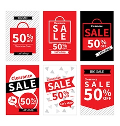 Set of sale website banner templates vector image vector image