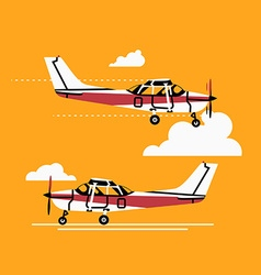 Small Plane in the Sky vector image vector image