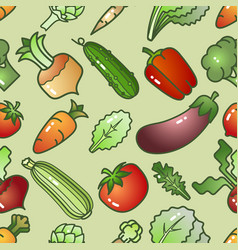 various colorful cartoon style vegetables vector image vector image