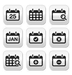 Calendar date buttons set vector image