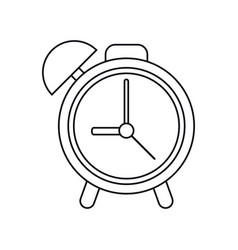 Clock time watch alarm outline vector