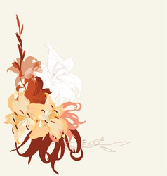 lily bouquet design vector image