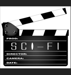 Science fiction clapperboard vector