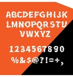 Alphabet ragged flat for creative use vector