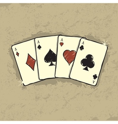 Four aces vector