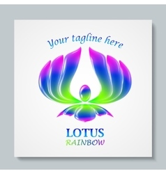 Luxury image logo Rainbow Lotus Business design vector image