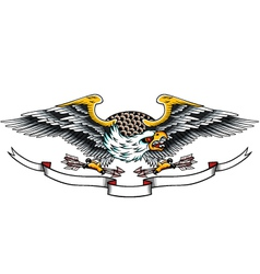 Eagle tattoo vector