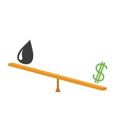 Balance between dollar and oil value dollar sign vector