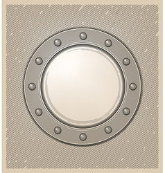 Submarine window or porthole in engraving style vector