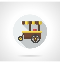 Hot drinks trolley round flat color icon vector