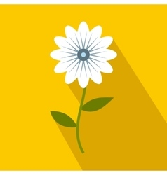 White flower icon flat style vector