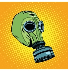 Gas mask vintage rubber green retro background vector