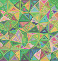 Abstract triangle mosaic tile background design vector