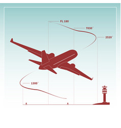 aircraft climbs after take off vector image
