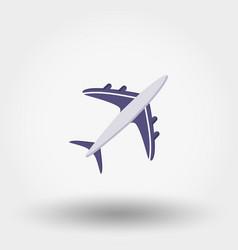 Aircraft icon vector