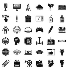 Best idea icons set simple style vector