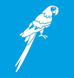 Brazilian parrot icon white vector