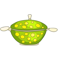cartoon home kitchen pot vector image vector image