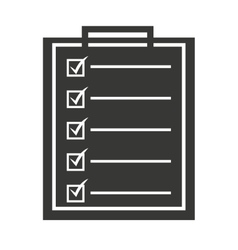 checklist isolated icon design vector image
