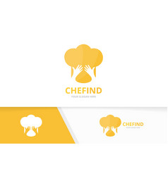 Chef hat and hands logo combination vector