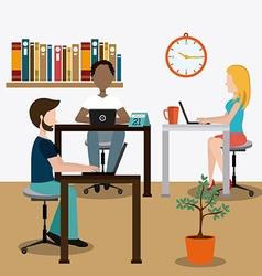 Coworking design vector