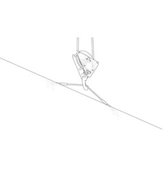 crane hook with plate vector image