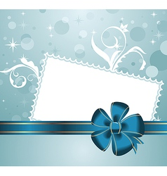 cute christmas background with greeting card - vector image vector image