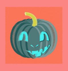 Flat shading style icon halloween pumpkin emotions vector