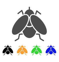 Fly insect flat icon vector