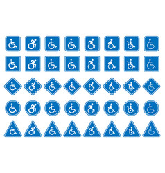 handicap icons disabled people sign vector image vector image