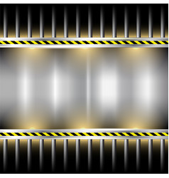 industrial background metal frame vector image vector image