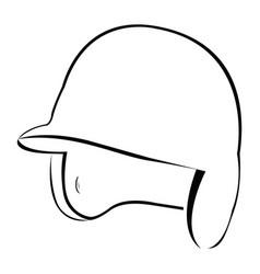 Isolated baseball helm vector