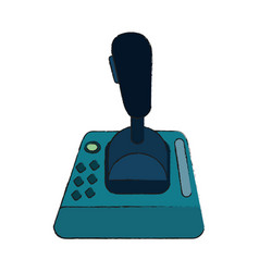 joystick gamepad device vector image vector image