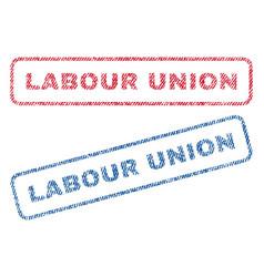 Labour union textile stamps vector