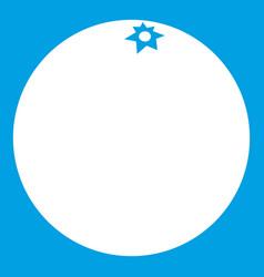 Mandarin icon white vector