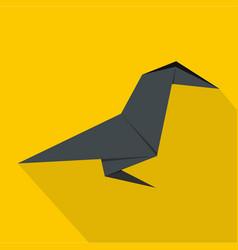 origami bird icon flat style vector image