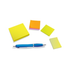 Pen and pad vector image vector image