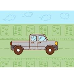 Pickup car vector image vector image