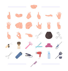 Salon haircut signs and other web icon in vector