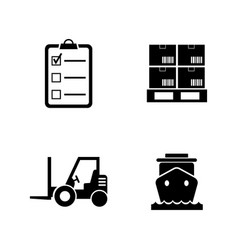 shipping and logistics simple related vector image vector image