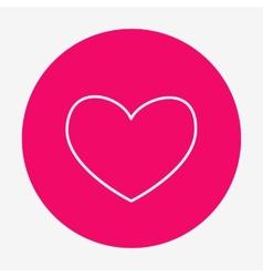 Single flat heart contour icon vector