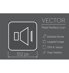 Speaker pixel perfect icon vector