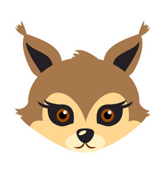 squirrel animal carnival mask brown fluffy bun vector image