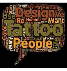 Tattoo designs ideas to consider text background vector